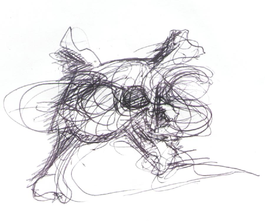 Skull Skizze Bernd Schimmelpfennig 1996