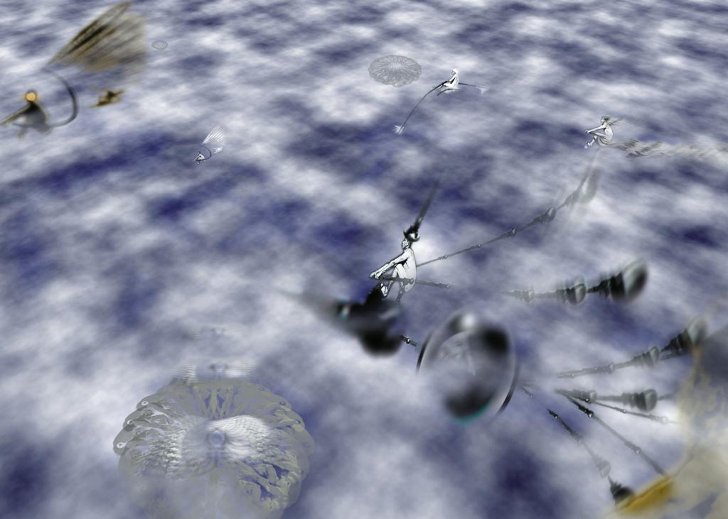 Luftruderer Illustration Bernd Schimmelpfennig 1997