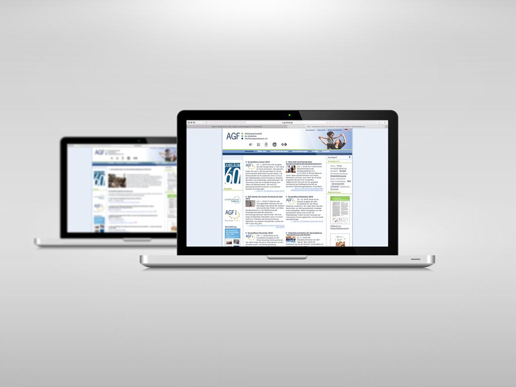 AGF e.V. website 2010 dabone  design & arts   berlin