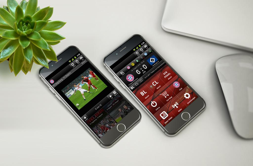 Bayern München Android UI-Design motain GmbH & Co. KG 2011