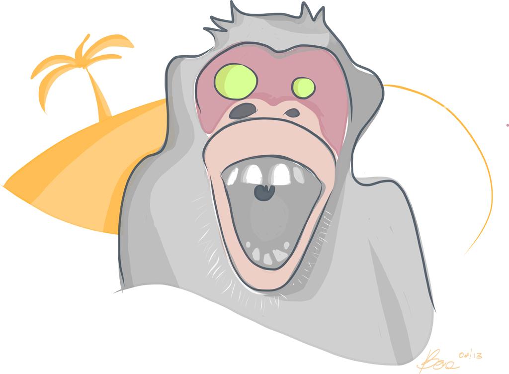 Screaming Monkey Illustration Bernd Schimmelpfennig 2013