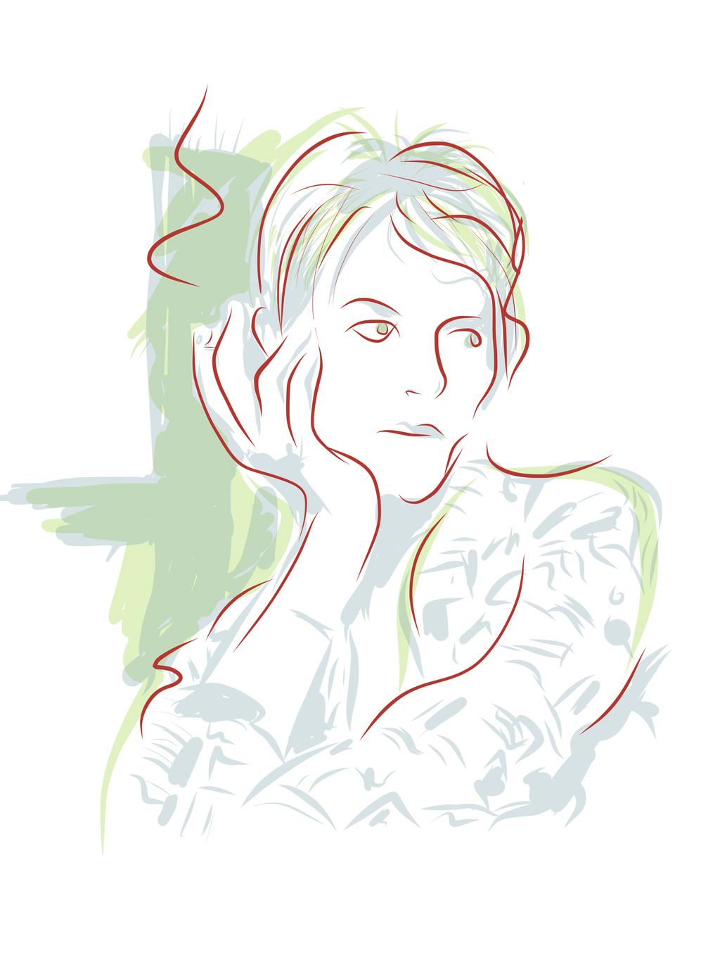 Illustration David Bowie Bernd Schimmelpfennig 2013