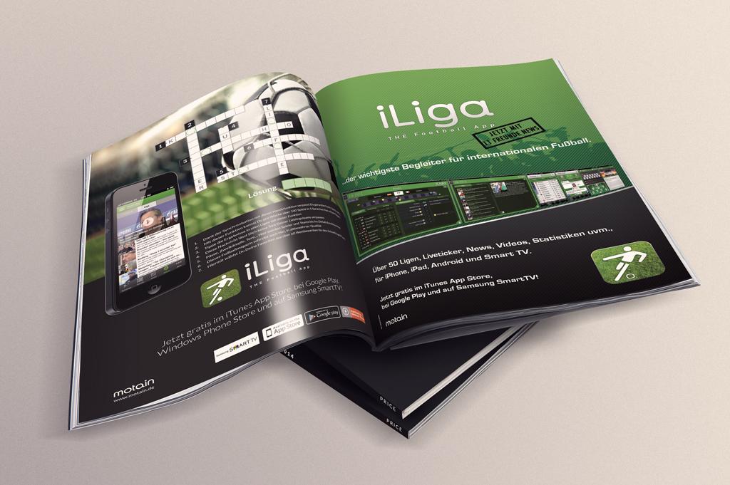 iLiga Anzeigen A4 motain GmbH & Co. KG 2014