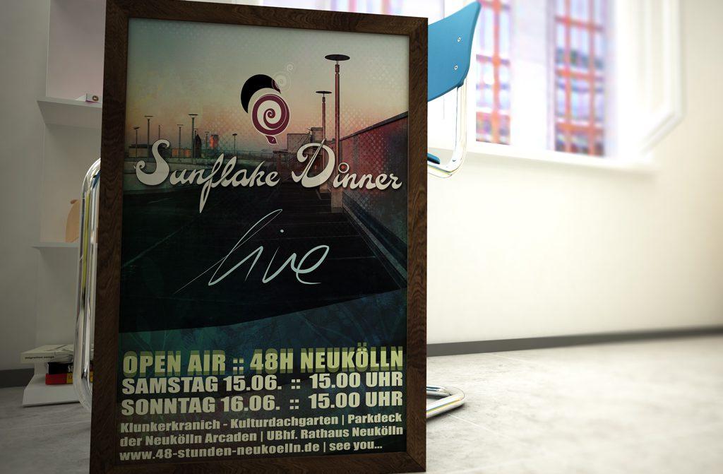 Sunflake Dinner Plakat 2016 dabone |design & arts | berlin