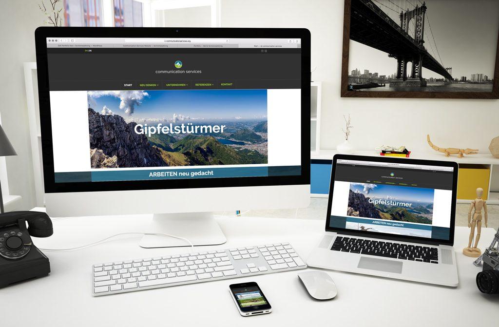 Communication Services website 2019 dabone |design & arts | berlin